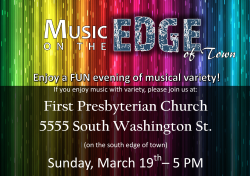 Music on the Edge is 19 March at 5 p.m.