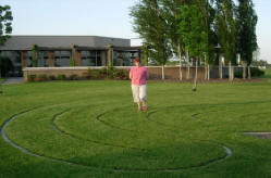 Outdoor labyrinth at First Presbyterian
